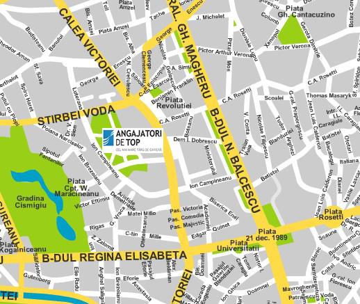 Harta Sala Palatului Bucuresti Harta